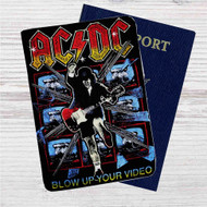 ACDC's Highway to Hell Custom Leather Passport Wallet Case Cover