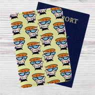 Dexters Laboratory Collage Custom Leather Passport Wallet Case Cover