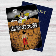 Dragon Ball Z X Attack on Titan Custom Leather Passport Wallet Case Cover