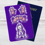 Fusion of Pokémon Mewtwo Custom Leather Passport Wallet Case Cover