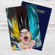 Goku on Transformation Dragon Ball Custom Leather Passport Wallet Case Cover
