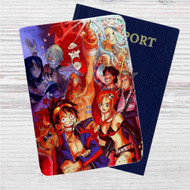 Gurren Lagann One Piece Custom Leather Passport Wallet Case Cover