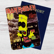 Iron Maiden The Simpsons Custom Leather Passport Wallet Case Cover