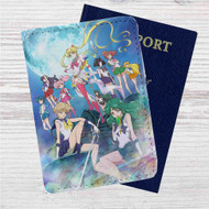 Sailor Moon Crystal Custom Leather Passport Wallet Case Cover