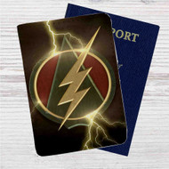 The Flash and Arrow Logo Custom Leather Passport Wallet Case Cover