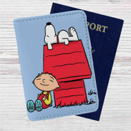 The Peanuts Snoopy and Family Guy Custom Leather Passport Wallet Case Cover
