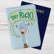 Tiny Rick and Morty Custom Leather Passport Wallet Case Cover