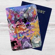 Uncle Grandpa STeven Universe Custom Leather Passport Wallet Case Cover