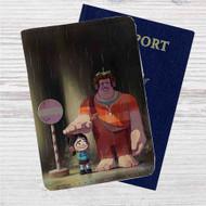Wreck it Ralph Totoro Custom Leather Passport Wallet Case Cover