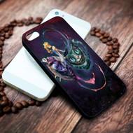 alice in wonderland, cat, cheshire on your case iphone 4 4s 5 5s 5c 6 6plus 7 case / cases