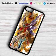 Digimon Raichi and Agumon Evolution on your case iphone 4 4s 5 5s 5c 6 6plus 7 Samsung Galaxy s3 s4 s5 s6 s7 HTC Case