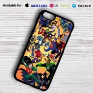 Justice League vs Teen Titans on your case iphone 4 4s 5 5s 5c 6 6plus 7 Samsung Galaxy s3 s4 s5 s6 s7 HTC Case