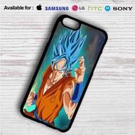 Super Saiyan Blue Goku Dragon Ball Super on your case iphone 4 4s 5 5s 5c 6 6plus 7 Samsung Galaxy s3 s4 s5 s6 s7 HTC Case