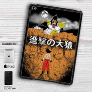 "Dragon Ball Z X Attack on Titan iPad 2 3 4 iPad Mini 1 2 3 4 iPad Air 1 2 | Samsung Galaxy Tab 10.1"" Tab 2 7"" Tab 3 7"" Tab 3 8"" Tab 4 7"" Case"