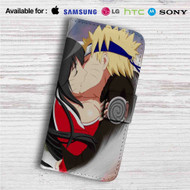 Ahri and Uzumaki Naruto Kiss Custom Leather Wallet iPhone Samsung Galaxy LG Motorola Nexus Sony HTC Case