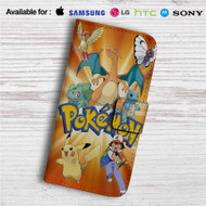 Ash and Pokemon Custom Leather Wallet iPhone Samsung Galaxy LG Motorola Nexus Sony HTC Case