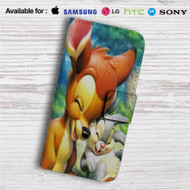 Disney Bambi and Thumper Custom Leather Wallet iPhone Samsung Galaxy LG Motorola Nexus Sony HTC Case