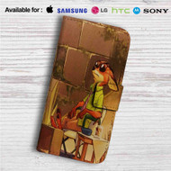 Enjoy Nick WIlde Zootopia Custom Leather Wallet iPhone Samsung Galaxy LG Motorola Nexus Sony HTC Case