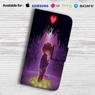 Frisk Undertale Custom Leather Wallet iPhone Samsung Galaxy LG Motorola Nexus Sony HTC Case