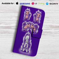 Fusion of Pokémon Mewtwo Custom Leather Wallet iPhone Samsung Galaxy LG Motorola Nexus Sony HTC Case