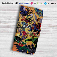 Justice League vs Teen Titans Custom Leather Wallet iPhone Samsung Galaxy LG Motorola Nexus Sony HTC Case