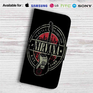 Nirvana Est 1988 Guitar Custom Leather Wallet iPhone Samsung Galaxy LG Motorola Nexus Sony HTC Case