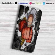 One Punch Man Saitama Sensei Power Custom Leather Wallet iPhone Samsung Galaxy LG Motorola Nexus Sony HTC Case