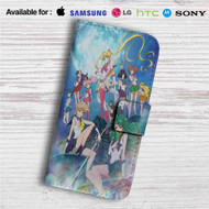 Sailor Moon Crystal Custom Leather Wallet iPhone Samsung Galaxy LG Motorola Nexus Sony HTC Case