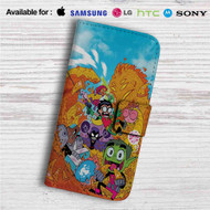Teen Titans Go Custom Leather Wallet iPhone Samsung Galaxy LG Motorola Nexus Sony HTC Case