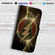 The Flash and Arrow Logo Custom Leather Wallet iPhone Samsung Galaxy LG Motorola Nexus Sony HTC Case