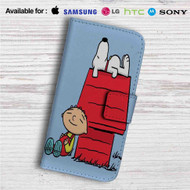 The Peanuts Snoopy and Family Guy Custom Leather Wallet iPhone Samsung Galaxy LG Motorola Nexus Sony HTC Case
