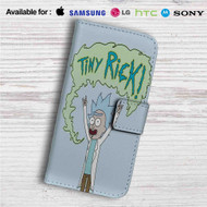 Tiny Rick and Morty Custom Leather Wallet iPhone Samsung Galaxy LG Motorola Nexus Sony HTC Case