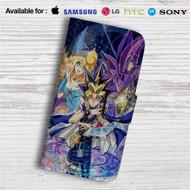 YuGiOh Duel Monster Dark Magician Custom Leather Wallet iPhone Samsung Galaxy LG Motorola Nexus Sony HTC Case