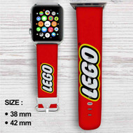 Lego Custom Apple Watch Band Leather Strap Wrist Band Replacement 38mm 42mm