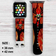 Aku Samurai Jack Custom Apple Watch Band Leather Strap Wrist Band Replacement 38mm 42mm