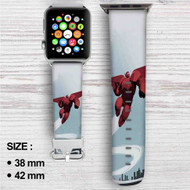 Bayma Big Hero 6 Custom Apple Watch Band Leather Strap Wrist Band Replacement 38mm 42mm