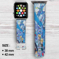 Digimon Adventure Tri Yamato and Gabumon's Evolution Custom Apple Watch Band Leather Strap Wrist Band Replacement 38mm 42mm