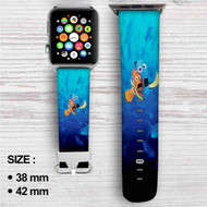 Disney Finding Dory Nemo Custom Apple Watch Band Leather Strap Wrist Band Replacement 38mm 42mm