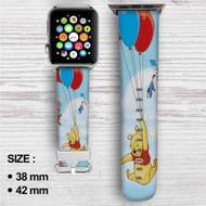 Disney Winnie The Pooh Balloons and Friends Custom Apple Watch Band Leather Strap Wrist Band Replacement 38mm 42mm