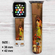 Enjoy Nick WIlde Zootopia Custom Apple Watch Band Leather Strap Wrist Band Replacement 38mm 42mm