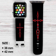 Fate Zero Stay Night Saber Seal Custom Apple Watch Band Leather Strap Wrist Band Replacement 38mm 42mm