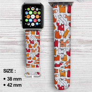 Foxy Foxes Custom Apple Watch Band Leather Strap Wrist Band Replacement 38mm 42mm