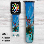 Toothless and Stitch Custom Apple Watch Band Leather Strap Wrist Band Replacement 38mm 42mm
