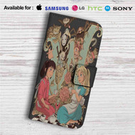 Alice in Wonderland and Spirited Away Custom Leather Wallet iPhone 4/4S 5S/C 6/6S Plus 7| Samsung Galaxy S4 S5 S6 S7 Note 3 4 5| LG G2 G3 G4| Motorola Moto X X2 Nexus 6| Sony Z3 Z4 Mini| HTC ONE X M7 M8 M9 Case