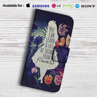 Alice in Wonderland Quotes Custom Leather Wallet iPhone 4/4S 5S/C 6/6S Plus 7| Samsung Galaxy S4 S5 S6 S7 Note 3 4 5| LG G2 G3 G4| Motorola Moto X X2 Nexus 6| Sony Z3 Z4 Mini| HTC ONE X M7 M8 M9 Case