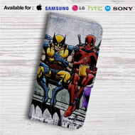 Deadpool and Wolverine Breakfast Custom Leather Wallet iPhone 4/4S 5S/C 6/6S Plus 7| Samsung Galaxy S4 S5 S6 S7 Note 3 4 5| LG G2 G3 G4| Motorola Moto X X2 Nexus 6| Sony Z3 Z4 Mini| HTC ONE X M7 M8 M9 Case