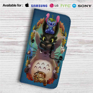 Disney Stitch Toothless Totoro Studio Ghibli Custom Leather Wallet iPhone 4/4S 5S/C 6/6S Plus 7  Samsung Galaxy S4 S5 S6 S7 Note 3 4 5  LG G2 G3 G4  Motorola Moto X X2 Nexus 6  Sony Z3 Z4 Mini  HTC ONE X M7 M8 M9 Case