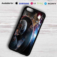 Iron Man vs Captain Captain America Civil War on your case iphone 4 4s 5 5s 5c 6 6plus 7 Samsung Galaxy s3 s4 s5 s6 s7 HTC Case