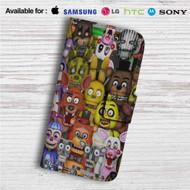 Five Nights at Freddys Custom Leather Wallet iPhone 4/4S 5S/C 6/6S Plus 7| Samsung Galaxy S4 S5 S6 S7 Note 3 4 5| LG G2 G3 G4| Motorola Moto X X2 Nexus 6| Sony Z3 Z4 Mini| HTC ONE X M7 M8 M9 Case