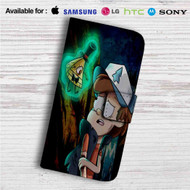 Gravity Falls Bill Cipher and Bipper Custom Leather Wallet iPhone 4/4S 5S/C 6/6S Plus 7| Samsung Galaxy S4 S5 S6 S7 Note 3 4 5| LG G2 G3 G4| Motorola Moto X X2 Nexus 6| Sony Z3 Z4 Mini| HTC ONE X M7 M8 M9 Case